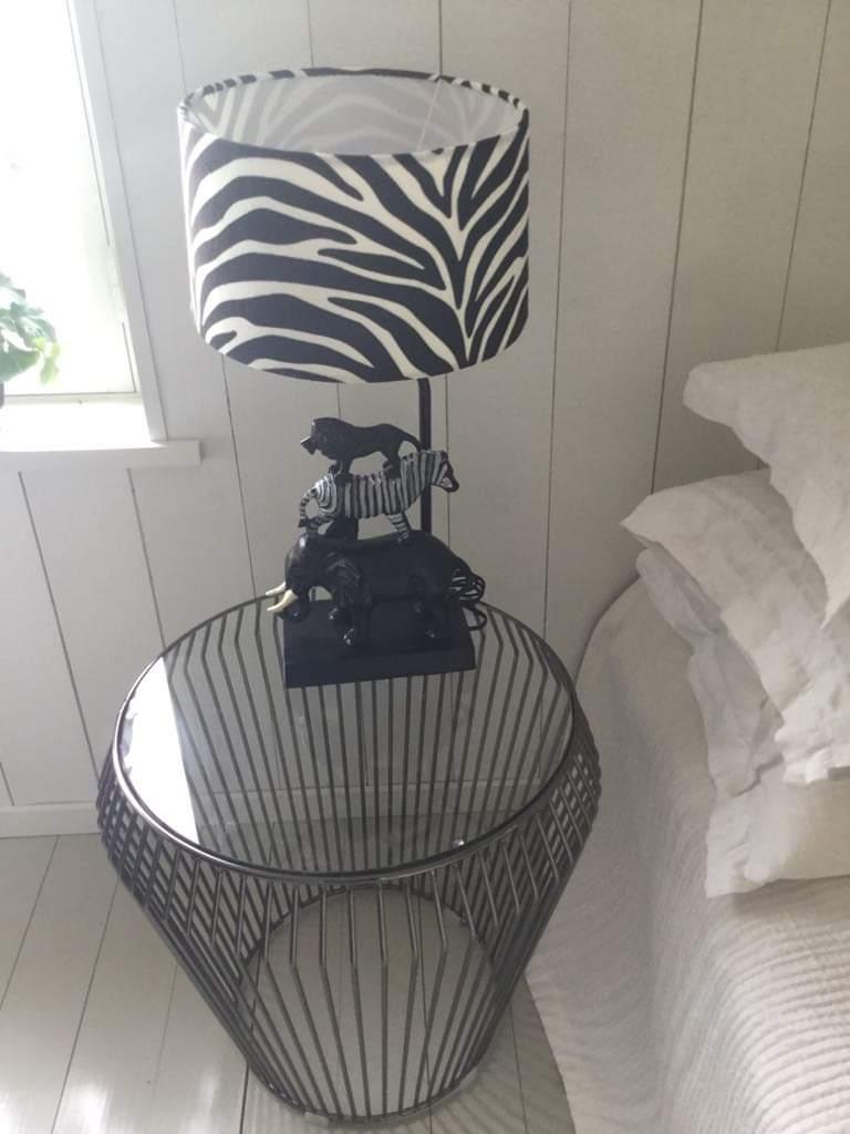 africa lampa med sebra